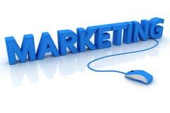 Marketing-Text mit Computermaus Lizenzfreie Stockfotografie