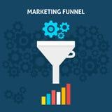 Marketing Trechter Vlak Concept Royalty-vrije Stock Afbeelding