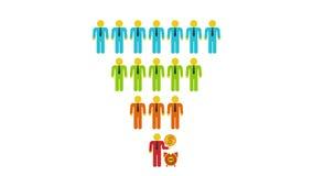 Marketing Trechterverkoop vector illustratie