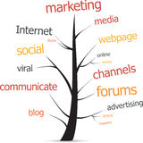 Marketing tree Stock Photo