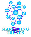 Marketing Trends Shows E-Marketing E-Commerce And Seo Stock Photography