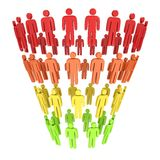 Marketing-Trichter-Verkäufe Lizenzfreies Stockfoto