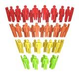 Marketing-Trichter-Verkäufe Lizenzfreie Stockfotos