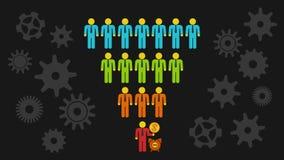 Marketing-Trichter-Verkäufe vektor abbildung