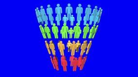 Marketing-Trichter-Verkaufs-Diagramm mit Leuten vektor abbildung