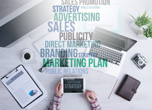 Marketing- und Geschäftskonzepte lizenzfreie stockfotos