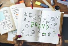 Marketing van de Bedrijfs merk Commercieel Strategie Concept stock foto