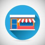 Marketing van de het Symboolwinkel van de Handelshandel het Pictogramgroet Stock Fotografie