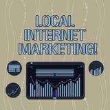 Marketing van Internet van de handschrifttekst de Lokale Het Bereik van de conceptenbetekenis de klanten die aan u Digitale Combi royalty-vrije illustratie
