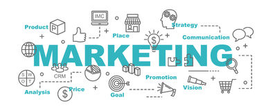 Marketing vector banner Royalty Free Stock Images