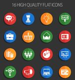 Marketing 16 flat icons. Marketing vector icons for web and user interface design vector illustration