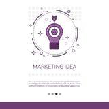 Marketing-Visions-Geschäfts-Ideen-Fahne mit Kopien-Raum Stockfotografie