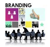 Marketing Voltooiing die Collectieve Duimen op Concept brandmerken stock afbeelding
