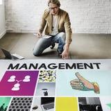 Marketing Voltooiing die Collectieve Duimen op Concept brandmerken stock foto's