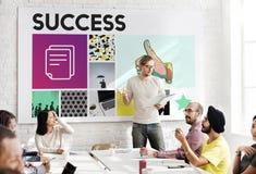 Marketing Voltooiing die Collectieve Duimen op Concept brandmerken royalty-vrije stock foto's