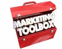 Marketing-Werkzeugkasten-Betriebsmittel-Informationen spitzen Tricks stock abbildung