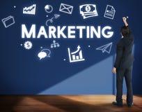Marketing-Wirtschaftswerbungs-Handelsbranding-Konzept lizenzfreie stockfotografie