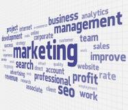 Marketing-Wolke lizenzfreie abbildung