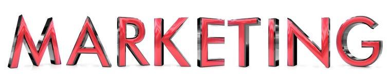 Marketing woord stock illustratie