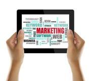 Marketing woord of markeringswolk Royalty-vrije Stock Afbeeldingen