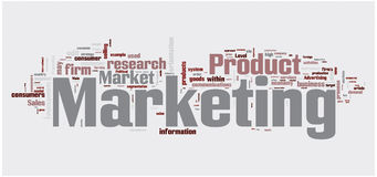 Marketing word cloud Stock Photography