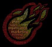 Marketing Word Cloud Royalty Free Stock Photo