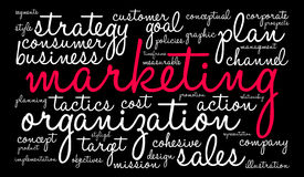 Marketing Word Cloud Royalty Free Stock Photography