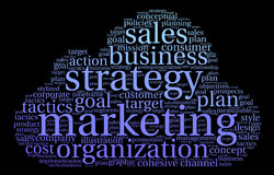 Marketing Word Cloud Royalty Free Stock Photos