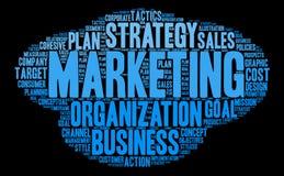 Marketing Word Cloud Stock Photo