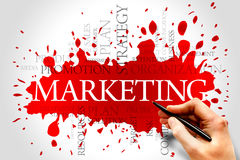 Marketing. Word cloud, business concept stock images