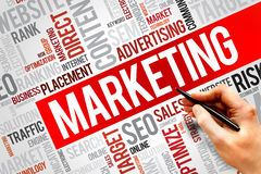 Marketing. Word cloud, business concept Royalty Free Stock Image