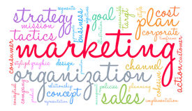 Marketing Word Cloud Royalty Free Stock Photo
