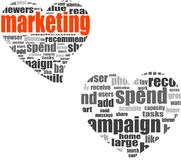 Marketing. Word collage set in heart shape Royalty Free Stock Photo