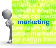 Marketing in Word de Middelenmarkt van het Wolkenteken Reclameverkoop Stock Foto's