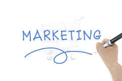Marketing word. With hand writing royalty free stock image