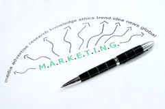 Marketing word Stock Photo