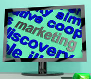Marketing Word Shows Advertising Promoting And Selling Royalty Free Stock Photography