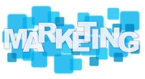 Marketing. Word on Square Blocks Royalty Free Stock Photography