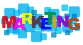 Marketing. Word on Square Blocks Stock Images