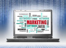Marketing word or tag cloud Royalty Free Stock Photos