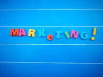 Marketing word text Stock Images