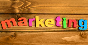 Marketing word Royalty Free Stock Photos