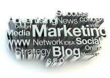Marketing words. Isolated on white background Royalty Free Stock Image
