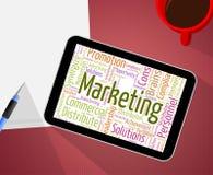 Marketing-Wort bedeutet Verkäufe Wörter und Wordclouds Stockfotografie