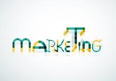Marketing-Wortgusskonzept Stockfotos
