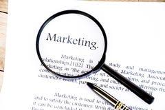 Marketingowa tekst ostrość na białym tle Obraz Stock