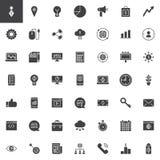Marketingowe wektorowe ikony ustawiać ilustracja wektor