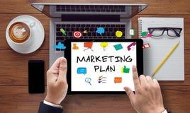 Marketingowego planu pojęcie obrazy royalty free