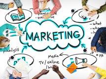 Marketingowy Biznesowej reklamy Merchandise Promocyjny pojęcie obrazy stock