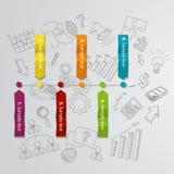 Marketingowy infographic pojęcie i ręka rysujący Obrazy Stock